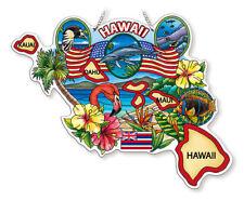 HAWAII STATE AMIA STAINED GLASS SUNCATCHER  8.75 X 7      42744