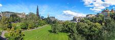 WOW! Edinburgh Panorama / Panoramic-  Princess Street Gardens apprx. 1x3 feet!