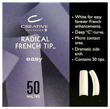 Cnd Radical French Tip Easy Nail Size #1-10, 50 Refill