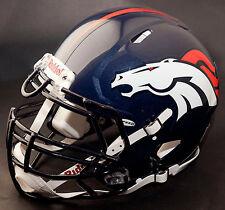 *CUSTOM* DENVER BRONCOS NFL Riddell Full Size SPEED Football Helmet