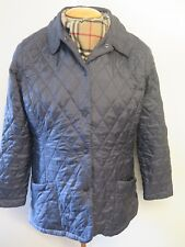 Vintage Barbour L6 Shaped Flyweight  Quilted Jacket - UK 14 Euro 40 in Dark Blue
