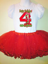 Strawberry Shortcake Party Dress Birthday 2pc tutu-set 1T,2T,3,4,5,6,7,8,9 Red
