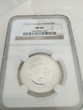 1952-D Washington-Carver Commemorative Silver Half Dollar 50C NGC MS64