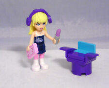 Lego Friends Figur Stephanie mit Kopfhörer Stuhl Lippenstift I-Pod  #7