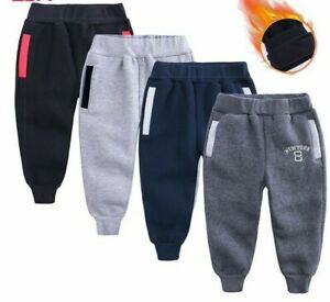 Casual Sport Pants Fleece Trousers For Children Toddlers Boys Autumn Winter Kids