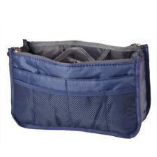 13 Pocket Bag in Bag Makeup Travel Insert Handbag Tote Organizer Purse Pouch SF