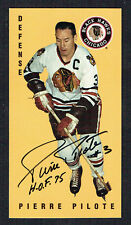 Pierre Pilote #31 signed autograph auto 1994 Parkhurst Tall Boy Hockey Card