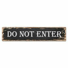 SP0817 DO NOT ENTER Street Sign Bar Store Shop Cafe Home Chic Decor