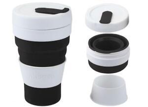 Summit Mybento Grande Pop Cup 450ml Collapsible Coffee Mug - Black
