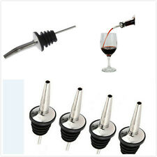 4x Stainless Steel Liquor Spirit Pourer FreeFlow Wine Bottle PourSpout StopperGW