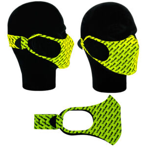VR46 COMMUNITY  FACE MASK COVERING GENUINE VALENTINO ROSSI MOTOGP R1 YELLOW