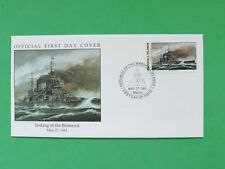 1991 Marshall Islands May 27th 1941 Sinking of the Bismark Stamp cover SNo52154