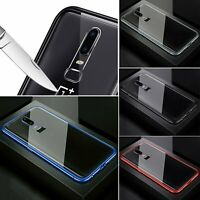 For OnePlus 7 Pro Magnetic Adsorption Metal Case Frame Tempered Glass Cover Skin