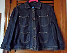 Nautica Dark Denim Jacket With Four Tulip Pockets & Decorative Stitching  SZ  L