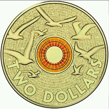 1 x 2015 Orange Remembrance Day UNC $2 Two Dollar Australian Coin.