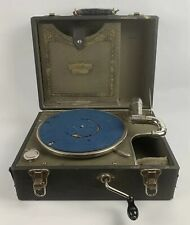Brunswick Portable Wind Up Record Player Acoustic Phonograph Vintage Antique