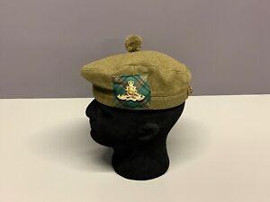 British Army-Issue Royal Artillery Tam O Shanter & Badge. Size 53cm.