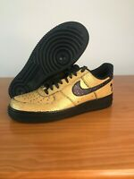 Nike Mens Air Force 1 '07 Gold Black Caribana Festival Mens Sz 10 AV3219-700