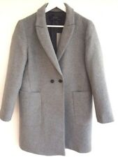 Zara Grey Boyfriend Masculine Wool Long coat L UK12-14 40-42