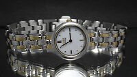 Citizen EW9134-51A Women's Eco Drive Two Tone Stainless Steel White Dial Watch