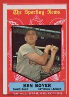 1959 Topps #557 Ken Boyer EX-EX+ St. Louis Cardinals FREE SHIPPING NL All-Star