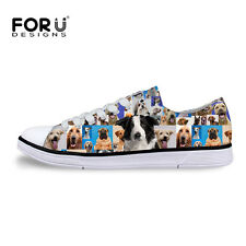 Men Women Fashion Animal Canvas Shoes Flats Comfortable Sneakers Casual Shoes