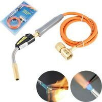 Mapp Gas Self Ignition Plumbing Solder Propane Welding Turbo Torch W/ 5 ft Hose