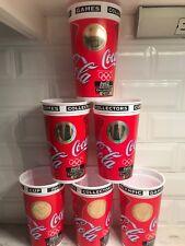 Set of 6 1996 Atlanta Olympic Games Coca Cola Collector's Cup Hologram Man Cave