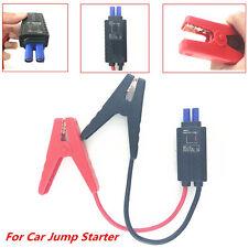 12V LED Alligator Clamp Lead Cable Clips For Car Jump Starter Power Bank Battery