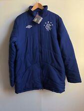 Umbro Rangers FC Football Men's Retro Padded Jacket - Large - Blue - New