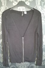 H&M Ladies Womens Black Cardigan Size Medium