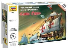 ZVEZDA 1/350 CHRISTOPHER COLUMBUS FLAGSHIP SANTA MARIA PLASTIC MODEL KIT ZV6510