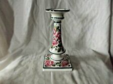 Vintage & Rare Wemyss  Pottery Cabbage Roses Candlestick