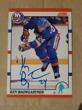 Ken Baumgartner New York Islanders autographed card