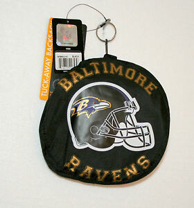 Baltimore Ravens NFL Football Team Folding Backsack Mini Backpack Bag New Tag