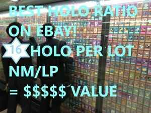 100x CARD LOT Guaranteed 16 HOLO PER LOT : RARE, SUPER, UR, SEC, NM - YUGIOH A+