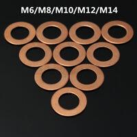 10x M6/M8/M10/M12/M14 Motorrad ATV Kupferscheiben Kupferdichtring