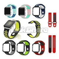 For Fitbit Blaze Silicone Metal Frame Replacement Sports Strap Watch Band oli