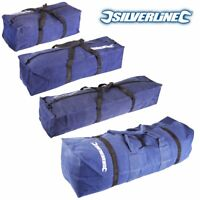 "SILVERLINE SMALL-LARGE CANVAS TOOL BAGS 18""/24""/30"" Handled Rucksack/Holdalls"