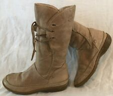 Ca Shott Brown Mid Calf Leather Lovely Boots Size 38 (69vv)