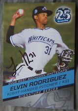 Detroit Tigers Elvin Rodriguez Signed 2018 West Michigan Whitecaps Auto Card
