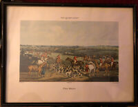 Lithograph The Quorn Hunt The Meet Published 1835 . 32cmx43cm( Framed)