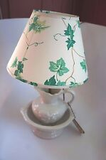 """VTG. SCHOR PARCRAFT """"PITCHER AND BOWL"""" TABLE LAMP WITH SHADE"""