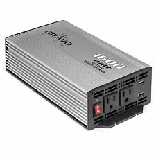 Bravo View INV-1600U – 1600-Watt Power Inverter with Dual USB Charging