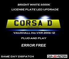 Fit Vauxhall Corsa D 2006-2012  White LED Number Plate Light Bulb *PLUG & PLAY*