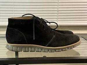 Cole Haan Grand.OS Chukka Zerogrand Black Suede Boots Men's Sz 13 M C13723