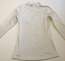 Under Armour Women's Medium ColdGear Fitted Long Sleeve Mock Shirt White