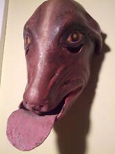 c1960 Maravilla (Marvel) Ethnographic, Leather, Dog Mask Tecuani Dance - Mexico