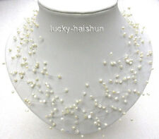 """Exquisite white freshwater pearls necklace 16"""""""
