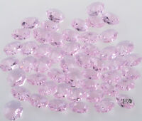 50pc Pink 2 Hole Lots Octagon Glass Crytsal Beads Chandelier Lamp Parts 14mm AAA